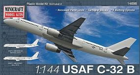Minicraft C-32B USAF C-32A RNZAF (B757) Plastic Model Airplane Kit 1/144 Scale #14696