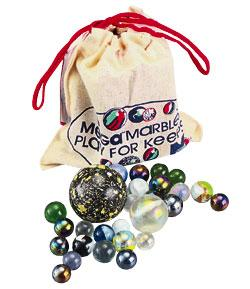 Mega Marbles Pouch w/Marbles & Rules -- Marble -- #93808