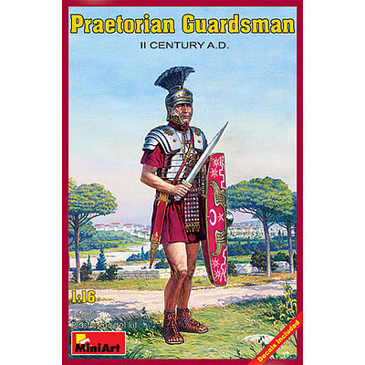 Mini-Art Praetorian Guardsman II Century A.D. -- Plastic Model Military Figure -- 1/16 Scale -- #16006