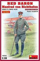 Mini-Art Red Baron Manfred von Richthofen WWI Flying Ace Plastic Model Military Figure 1/16 #16032