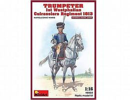 Mini-Art Trumpeter 1st Westphalian Cuirassiers Plastic Model Military Figure 1/16 Scale #16033