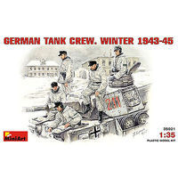 Mini-Art German Tank Crew Winter 1943-1945 (5) Plastic Model Military Figure 1/35 Scale #35021