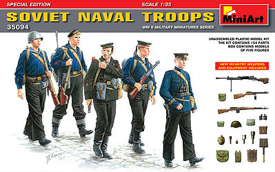 Mini-Art Soviet Naval Troops Special Edition -- Plastic Model Military Figure -- 1/35 Scale -- #35094