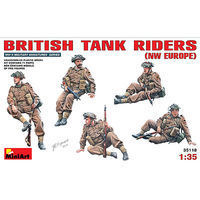 Mini-Art British Tank Riders (NW Europe) Plastic Model Military Figure 1/35 Scale #35118
