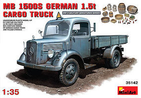 Mini-Art L1500S 1.5-Ton 4x2 German Cargo Truck Plastic Model Military Truck Kit 1/35 Scale #35142