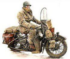 Mini-Art US Motorcycle WLA with Rider Plastic Model Military Vehicle Kit 1/35 Scale #35172