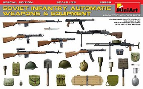 Mini-Art 1/35 Soviet Infantry Automatic Weapons & Equipment (Special Edition)