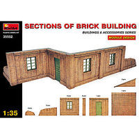 Mini-Art Sections of Brick Building Plastic Model Diorama 1/35 Scale #35552