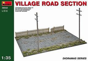 Mini-Art Village Road Section Plastic Model Diorama 1/35 Scale #36042