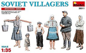 Mini-Art 1/35 Soviet Villagers (6) (New Tool)