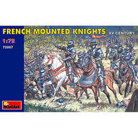 Mini-Art XV Century French Knights Plastic Model Military Figure 1/72 Scale #72007