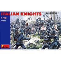 Mini-Art Italian Knights XV Century Plastic Model Military Figure 1/72 Scale #72008