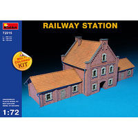 Mini-Art Railway Station Plastic Model Diorama 1/72 Scale #72015