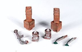 Monroe Mini Tales(TM) Chimneys, Vents & Lights Kit HO Scale Model Railroad Building Accessory #2304