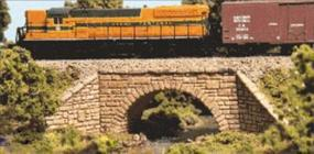 Monroe Stone Arch Bridge N Scale Model Railroad Bridge #9001