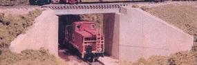 Monroe Concrete & Girder Bridge Kit N Scale Model Railroad Bridge #9005