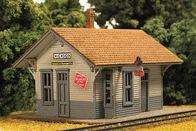 Monroe Hickson Depot Kit N Scale Model Railroad Building #9210