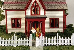 Monroe Ornate Picket Fence 336 Scale Feet Total N Scale Model Railroad Building Accessory #9308