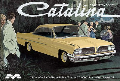 Moebius Models 1961 Pontiac Catalina -- Plastic Model Car Kit -- 1/25 Scale -- #1217