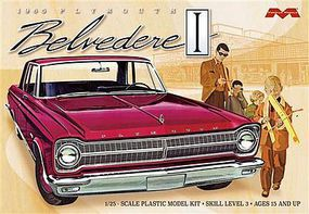 Moebius 1965 Plymouth Belvedere Plastic Model Car Kit 1/25 Scale #1218
