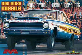 Moebius 1965 Plymouth Hemi Melrose Missile Super Stock Drag Car Plastic Model Car Kit 1/25 #1229