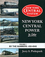 Morning-Sun New York Central Power in Color Volume 1 By the Numbers #20-4940 Model Railroading Book #1581