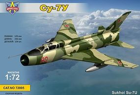 Modelsvit Su7u Soviet Training Aircraft (New Variant) Plastic Model Airplane Kit 1/72 Scale #72005