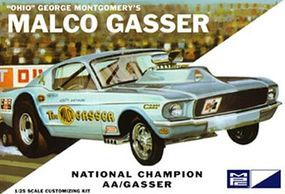 MPC 1967 Mustang Ohio George Malco Gasser Car (Light Blue) Plastic Model Car Kit 1/25 #804