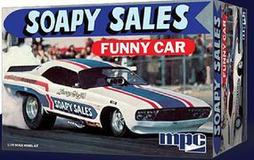 MPC Dodge Challenger Soapy Sales Funny Car Plastic Model Car Kit 1/25 Scale #831