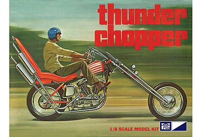 MPC by Ertl Thunder Chopper Custom Motorcycle -- Plastic Model Motorcycle Kit -- 1/8 Scale -- #835-06