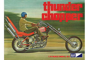 MPC Thunder Chopper Custom Motorcycle Plastic Model Motorcycle Kit 1/8 Scale #835-06