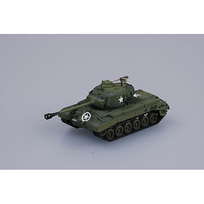 MRC M16 Pershing #10 Co.E 67th RGT 2nd Div -- Pre-Built Plastic Model Tank -- 1/72 Scale -- #36201