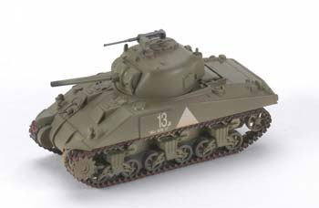 MRC M4 6th Armored Division Easy Model -- Pre-Built Plastic Model Tank -- 1/72 Scale -- #36251
