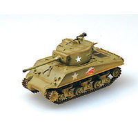 MRC M4A3(76)W Middle Tank 37th Battalion 4th Div. Pre-Built Plastic Model Tank 1/72 #36260
