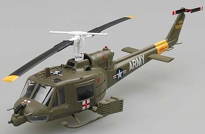 MRC UH1B Huey US Army Helicopter Vietnam 1967 -- Pre-Built Plastic Model Helicopter -- 1/72 -- #36908