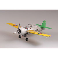 MRC F4F Wildcat VF-41 USS Ranger Pre-Built Plastic Model Airplane 1/72 Scale #37247