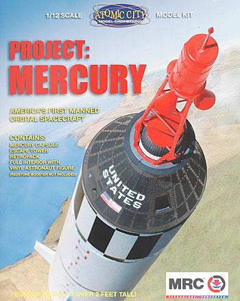 MRC Project Mercury Capsule -- Space Program Plastic Model -- 1/12 Scale -- #62001