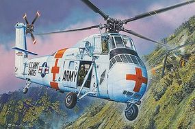 MRC CH34 US Army Rescue Helicopter (Plastic Kit) Plastic Model Helicopter Kit 1/48 Scale #64103