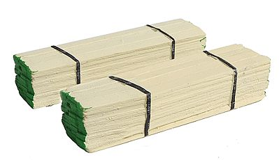 Model Railstuff Banded Lumber Stack Green Ends (2) -- Model Train Freight Car -- HO Scale -- #140