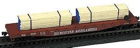 Railstuff Banded Lumber Stack Blue Ends (2) Model Train Freight Car HO Scale #142