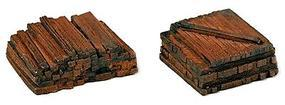 Railstuff Material Piles Stacked Railroad Ties Model Train Building Accessory HO Scale #150