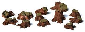 Railstuff Tree Stumps Assorted Sizes (12) Model Railroad Scenery HO Scale #2