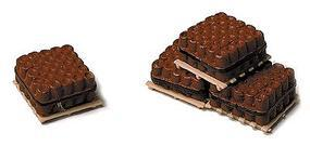 Railstuff Banded Drainage Tiles on Pallets Red (4) Model Railroad Building Accessory HO Scale #500