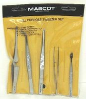 Mascot All Purpose Tweezers Set
