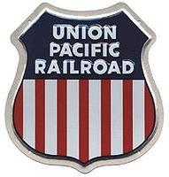 Microscale Embossed Die-Cut Metal Sign - Union Pacific Model Railroad Print Sign #10002