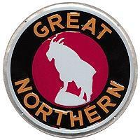 Microscale Embossed Die-Cut Metal Sign - Great Northern Model Railroad Print Sign #10004