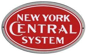 Microscale Embossed Die-Cut Metal Sign - New York Central Model Railroad Print Sign #10006