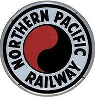 Microscale Embossed Die-Cut Metal Sign - Northern Pacific Model Railroad Print Sign #10013