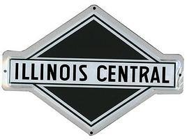 Microscale Embossed Die-Cut Metal Sign - Illinois Central Model Railroad Print Sign #10015