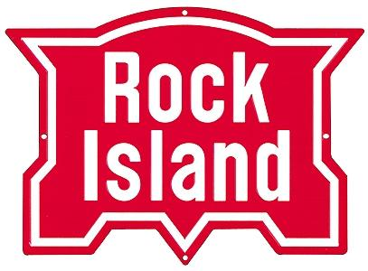 Microscale Inc Embossed Die-Cut Metal Sign - Rock Island -- Model Railroad Print Sign -- #10017